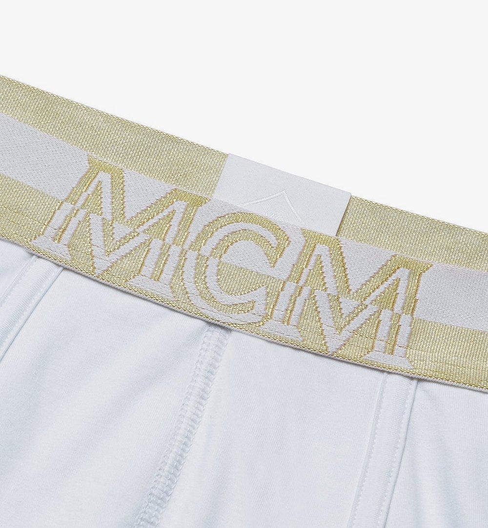 MCM Men's 1976 Short Boxer Briefs White MHYASBM02WT00S Alternate View 2