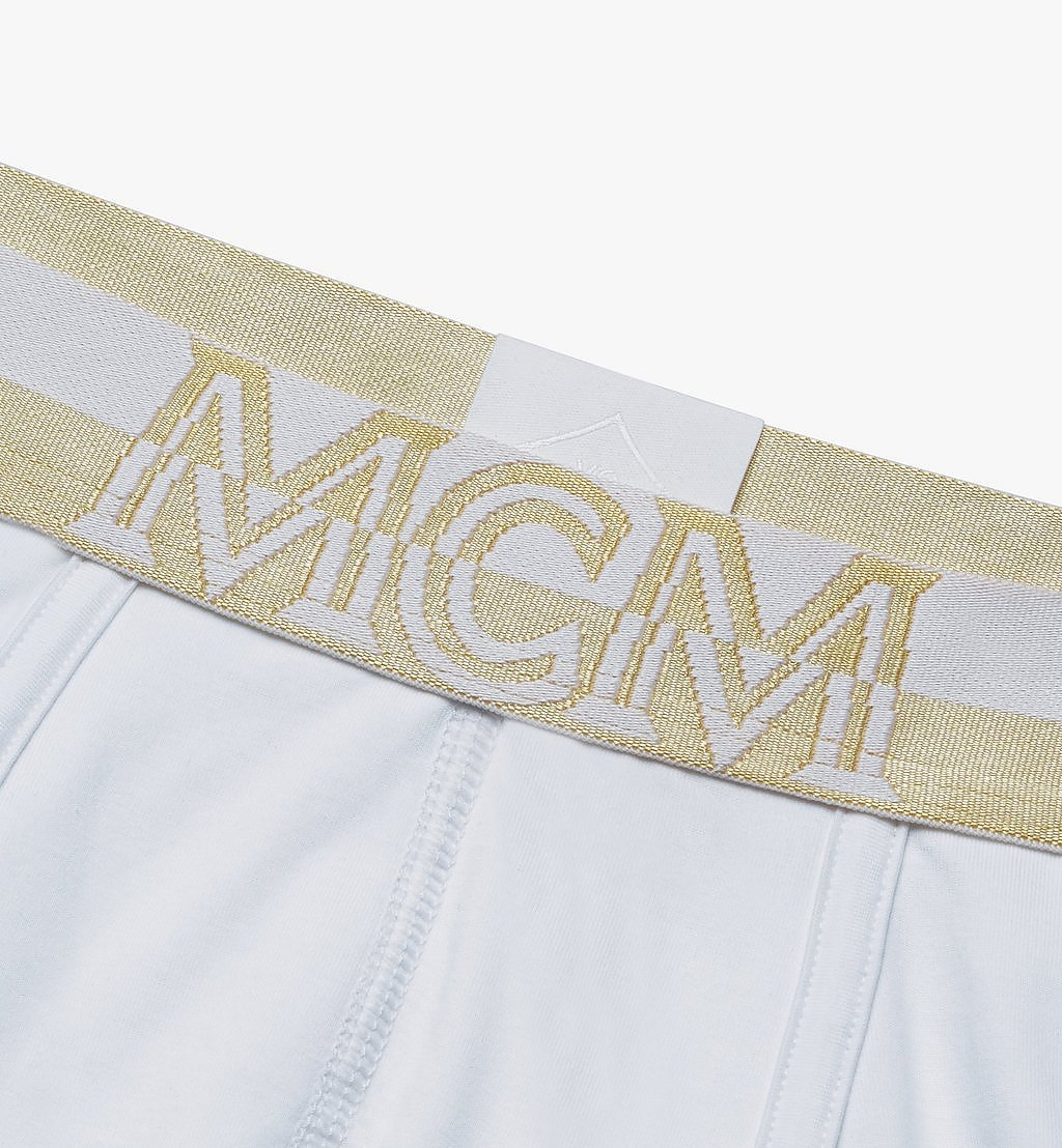 MCM Men's 1976 Short Boxer Briefs White MHYASBM02WT00S Alternate View 2