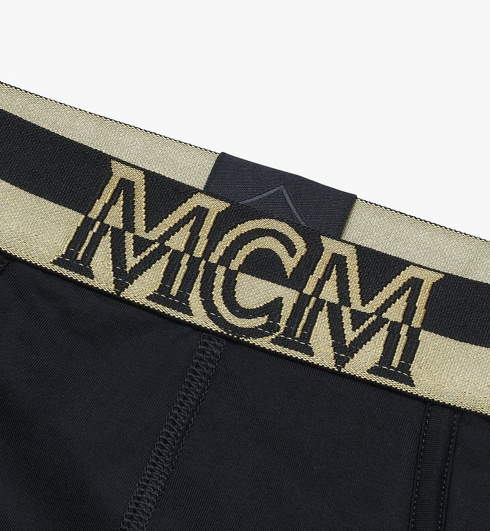 MCM Men's 1976 Logo Briefs Black MHYASBM03BK00S Alternate View 2