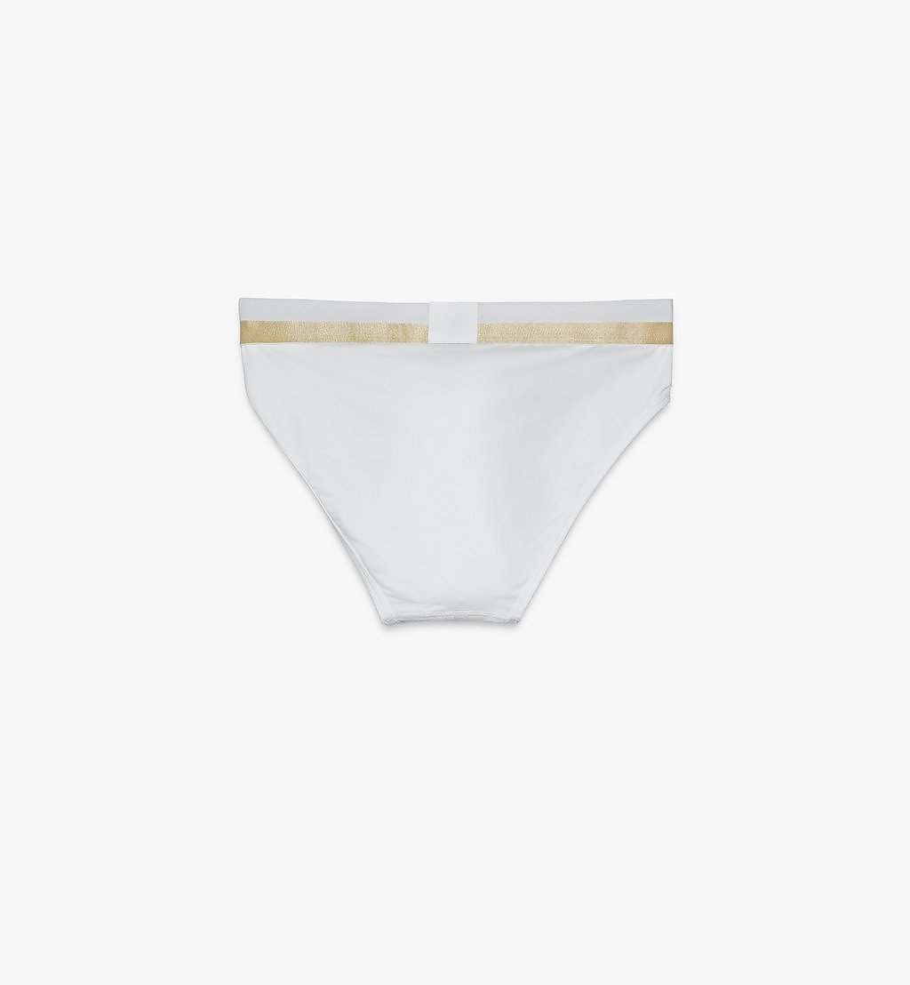 MCM Men's 1976 Logo Briefs White MHYASBM03WT00M Alternate View 1