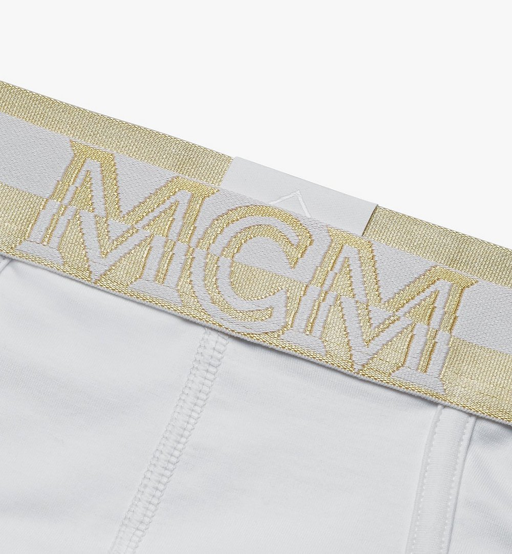 MCM Men's 1976 Logo Briefs White MHYASBM03WT00M Alternate View 2