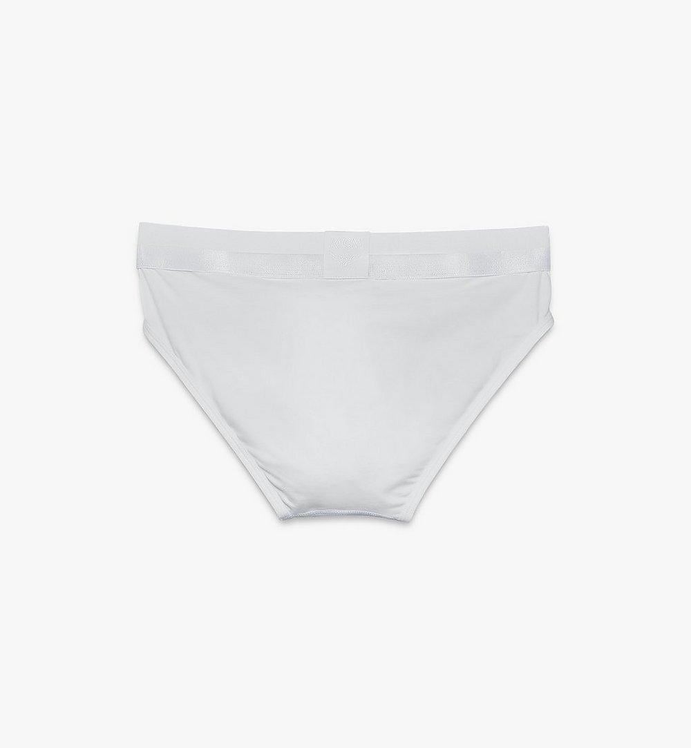 MCM 男士 1976 經典四角褲 White MHYASBM04WT00L 更多視圖 1