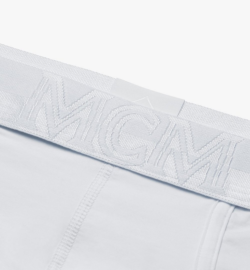 MCM 男士 1976 經典四角褲 White MHYASBM04WT00L 更多視圖 2
