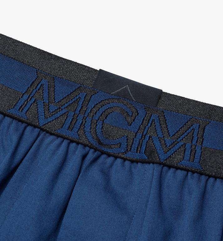 MCM Men's 1976 Woven Boxer Shorts Blue MHYASBM06LU00L Alternate View 3