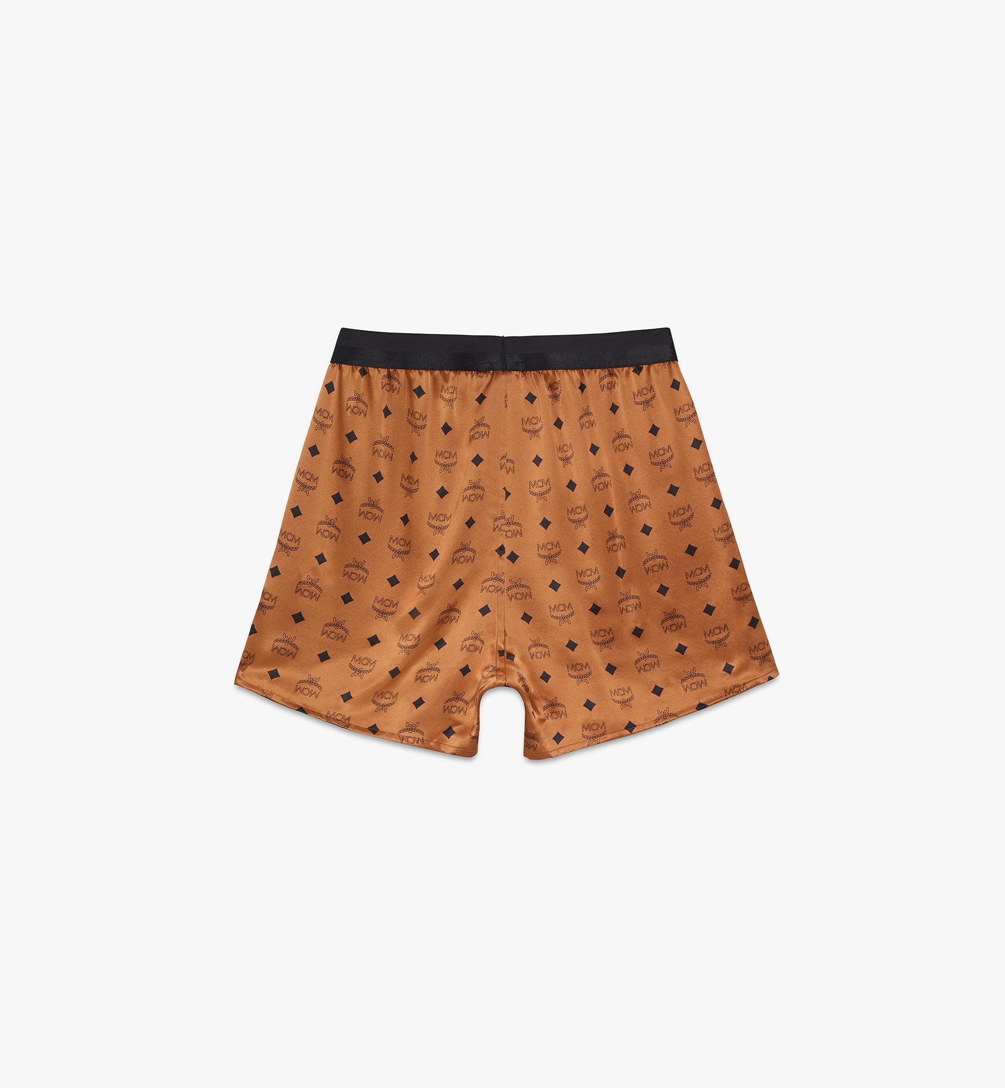 MCM Men's Silk Print Boxer Shorts Cognac MHYASBM07CO00L Alternate View 1