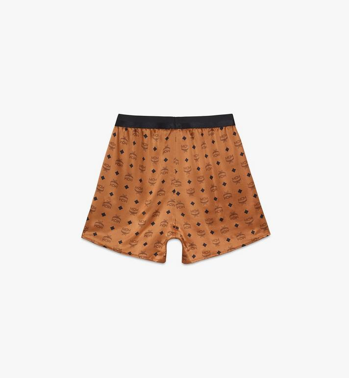 MCM Men's Silk Print Boxer Shorts Cognac MHYASBM07CO00L Alternate View 2
