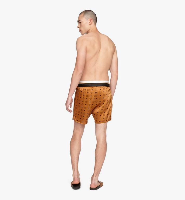 MCM Men's Silk Print Boxer Shorts Cognac MHYASBM07CO00L Alternate View 4