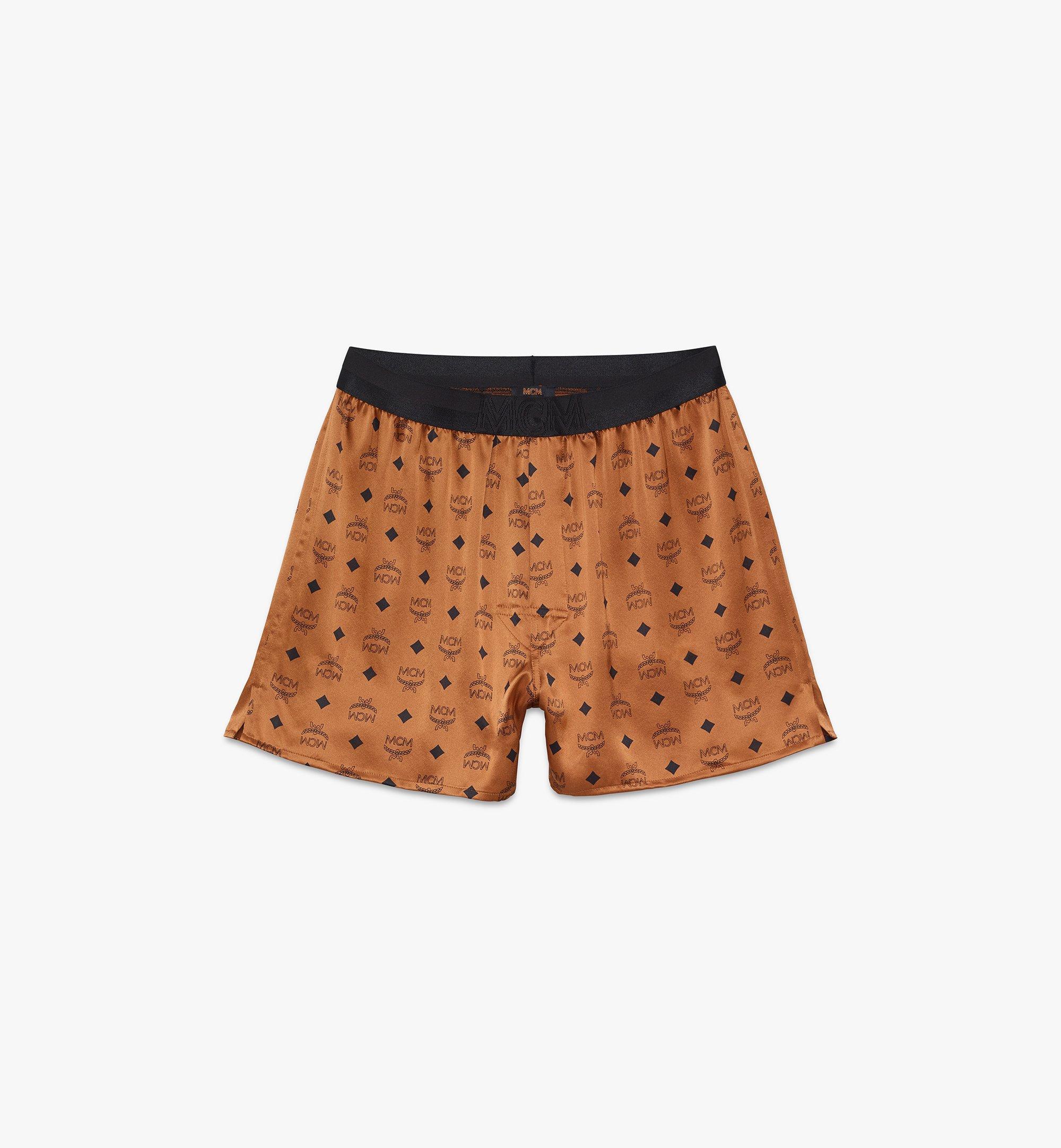 MCM Men's Silk Print Boxer Shorts Cognac MHYASBM07CO2XL Alternate View 1