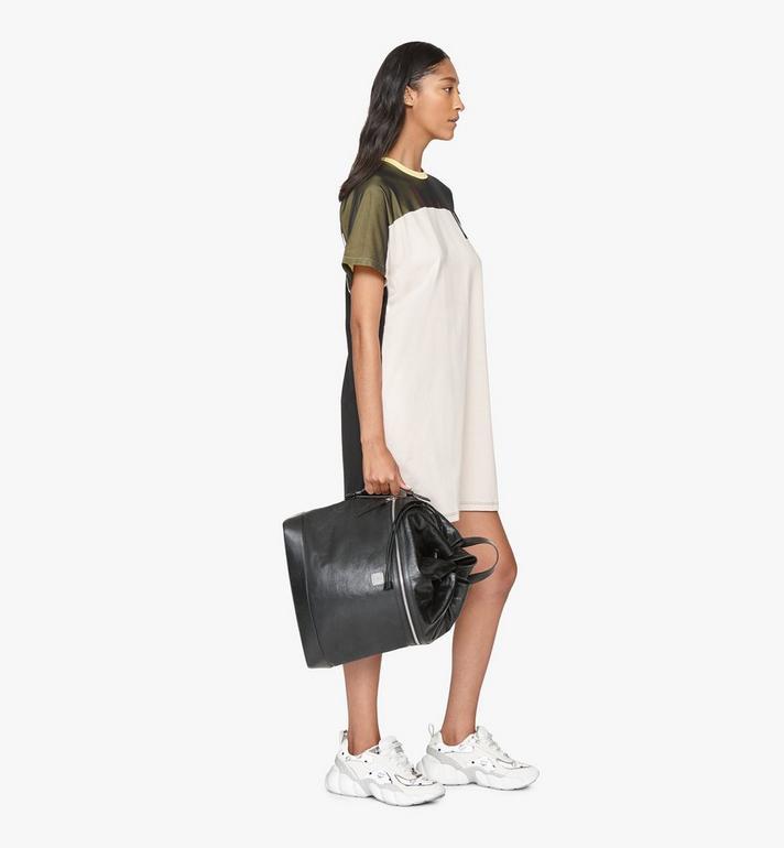 MCM Klassik Drawstring Backpack in Crushed Leather Black MMDASKC01BK001 Alternate View 6