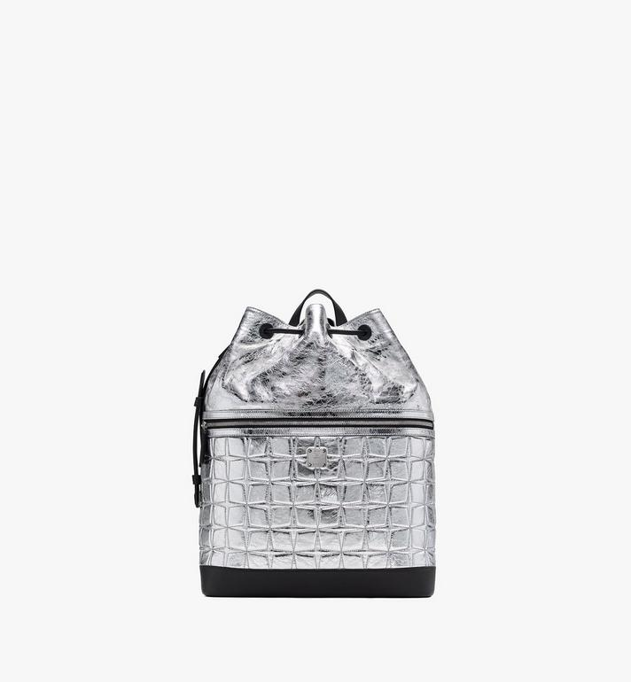 MCM Klassik Drawstring Backpack in Quilted Diamond Leather Alternate View