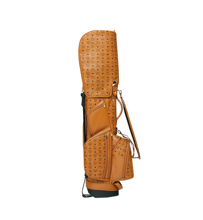 MCM Golf Bag in Visetos Cognac MMG8AXL20CO001 Alternate View 3