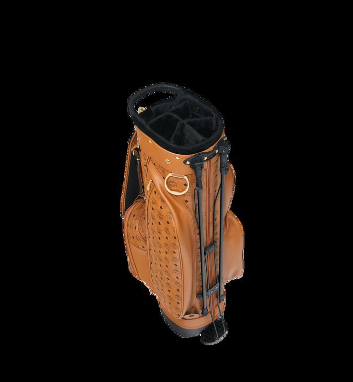 MCM Golf Bag in Visetos Cognac MMG8AXL20CO001 Alternate View 5