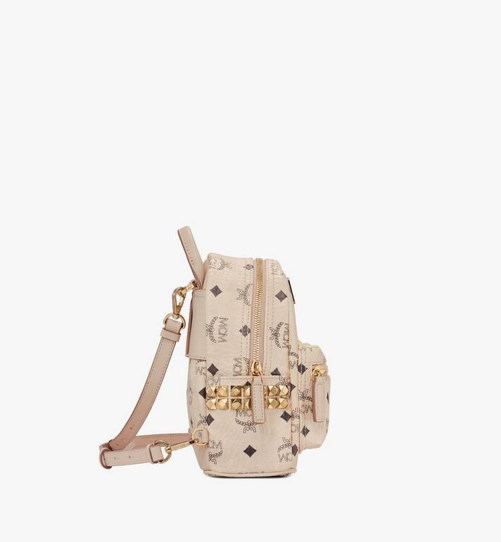 MCM Stark Side Studs Bebe Boo Backpack in Visetos MMK6AVE92IG001 AlternateView2