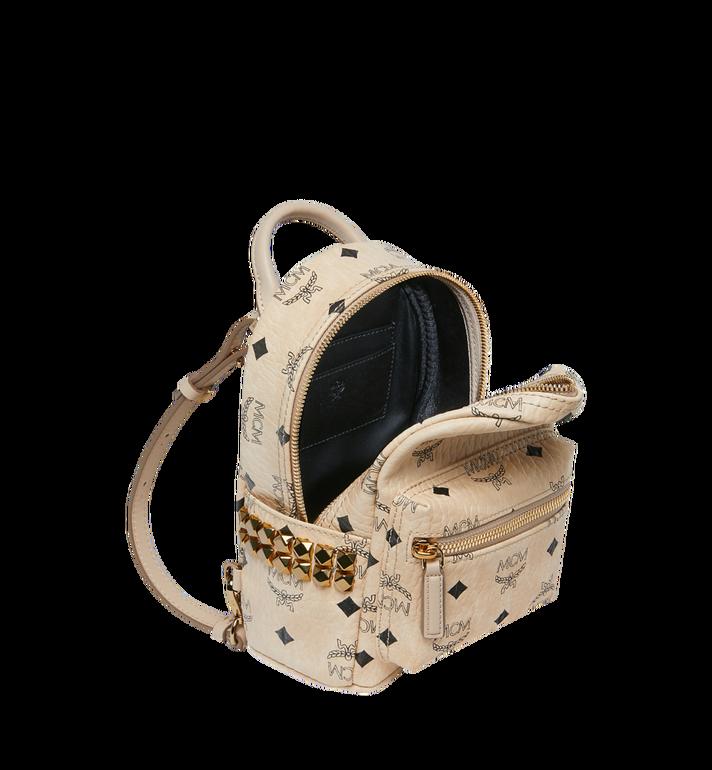 MCM Stark Bebe Boo Backpack in Visetos Beige MMK6AVE92IG001 Alternate View 7