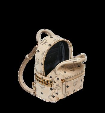 MCM Stark Side Studs Bebe Boo Backpack in Visetos MMK6AVE92IG001 AlternateView7