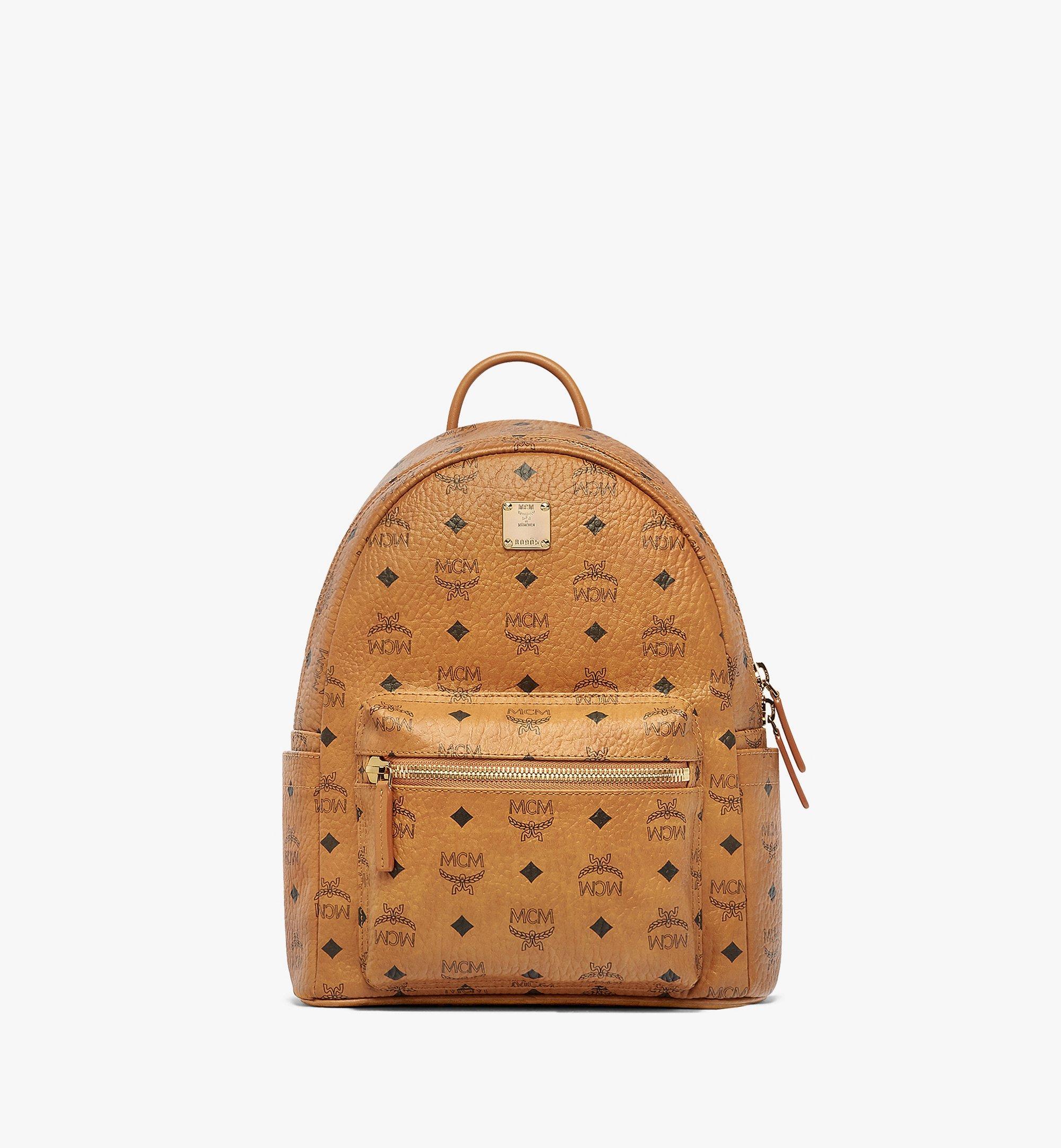01961d88d 32 cm / 12.5 in Stark Classic Backpack in Visetos Cognac   MCM