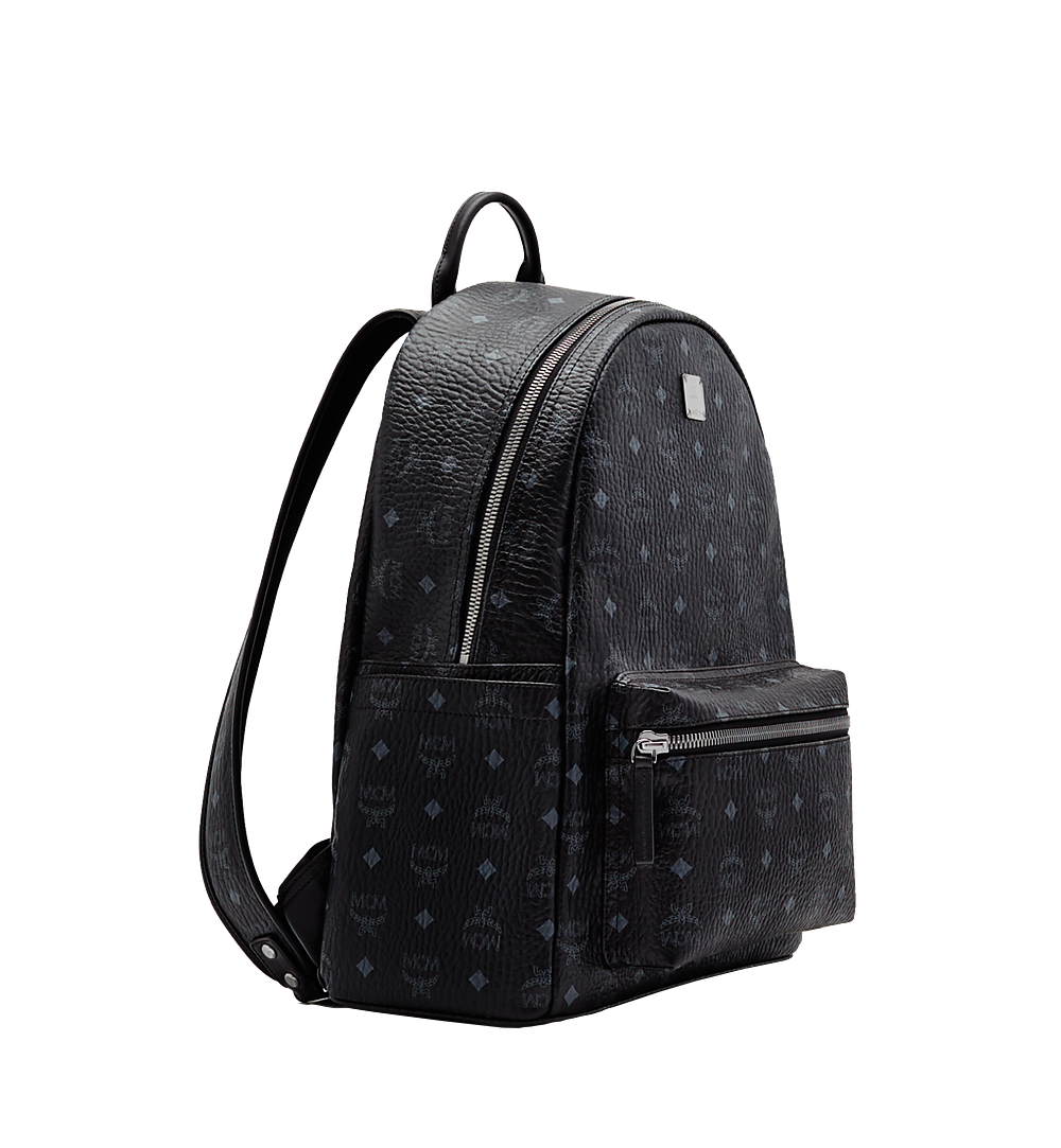 MCM Stark Classic Backpack in Visetos Black MMK6SVE28BK001 Alternate View 1