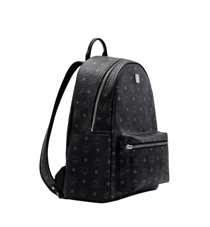 MCM Stark Classic Backpack in Visetos Black MMK6SVE28BK001 Alternate View 2
