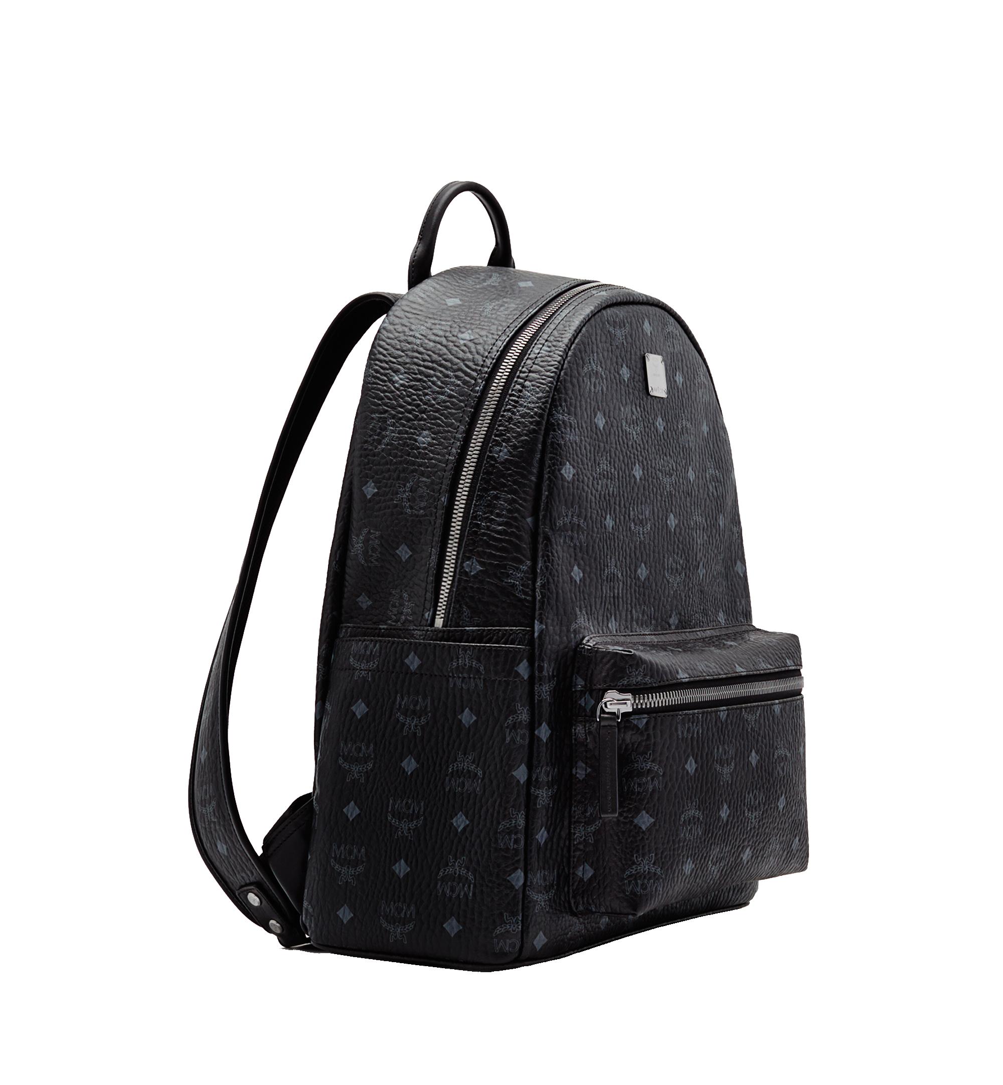 MCM Stark Classic Backpack in Visetos Black MMK6SVE28BK001 Alternate View 2