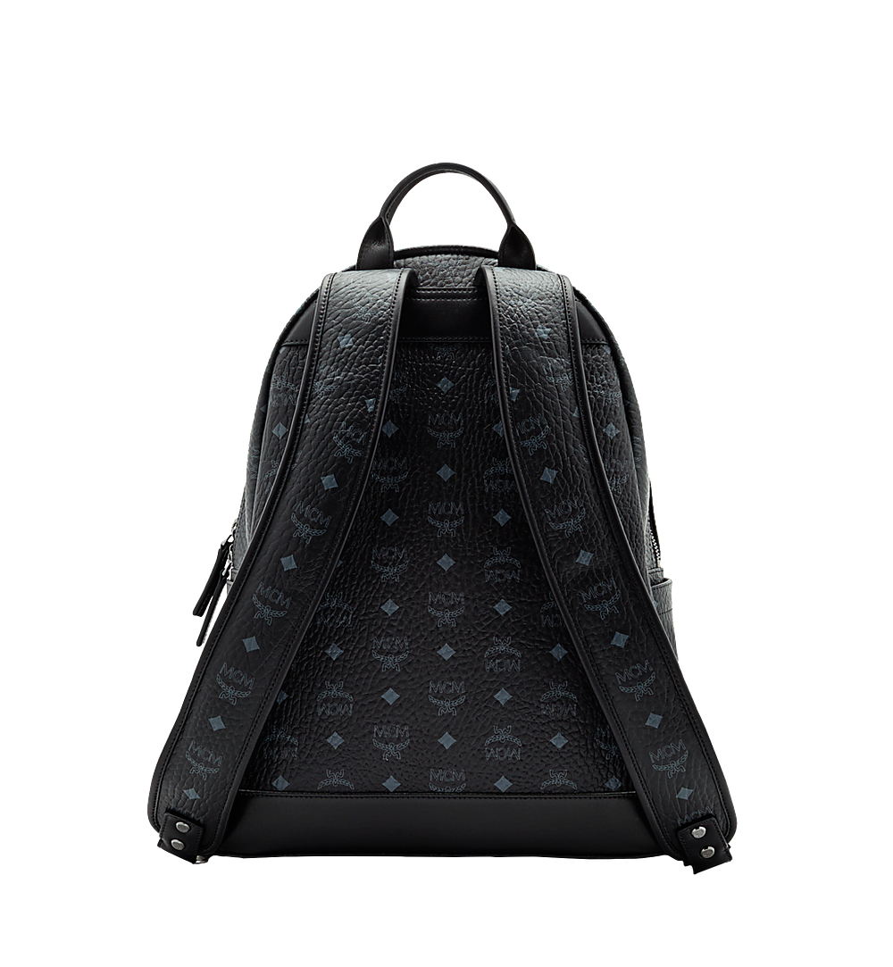 MCM Stark Classic Backpack in Visetos Black MMK6SVE28BK001 Alternate View 3