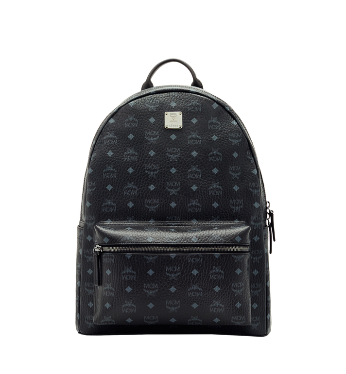 45819064536 47 cm   18.5 in Stark Classic Backpack in Visetos Black   MCM
