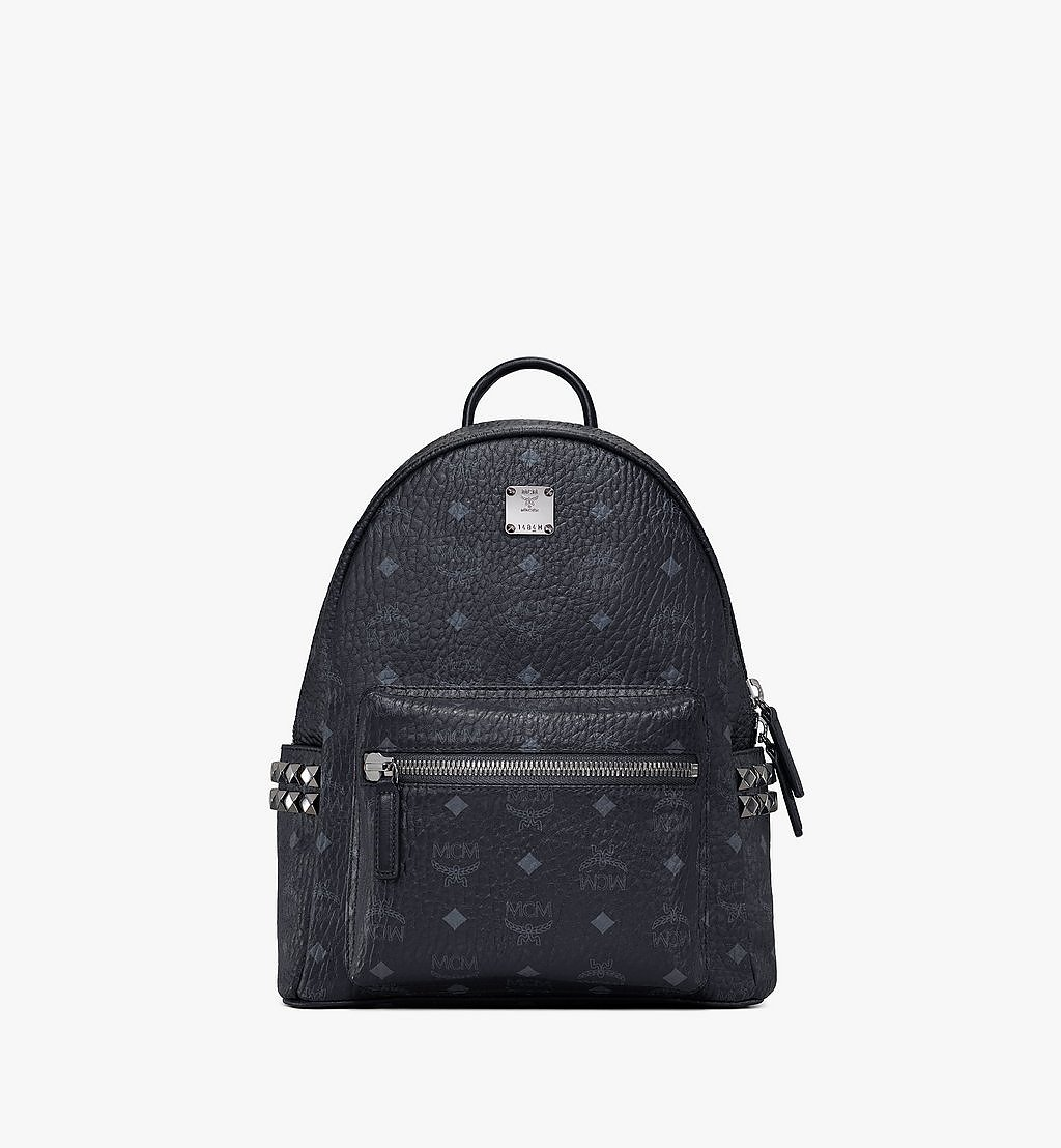MCM Stark Side Studs Backpack in Visetos Black MMK6SVE37BK001 Alternate View 1