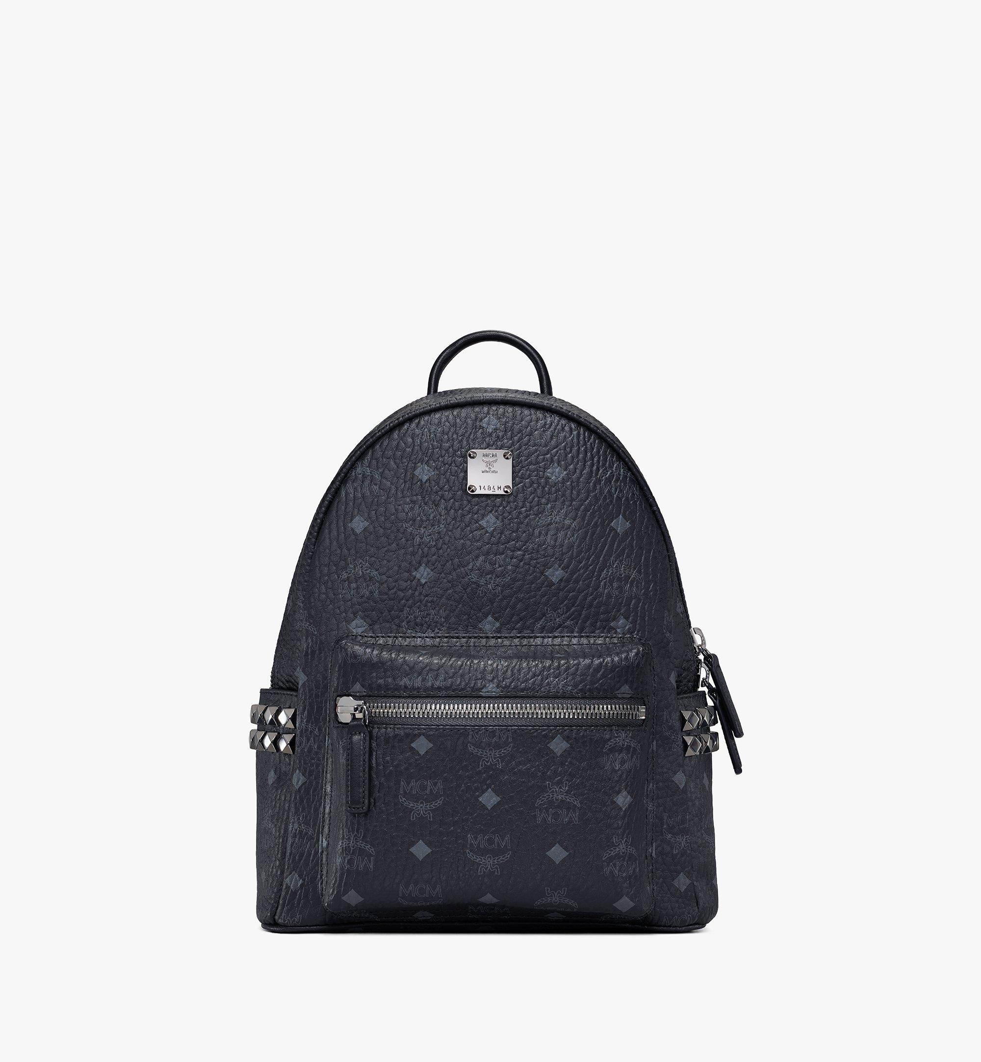 32 cm 12.5 in Stark Side Studs Rucksack in Visetos Black