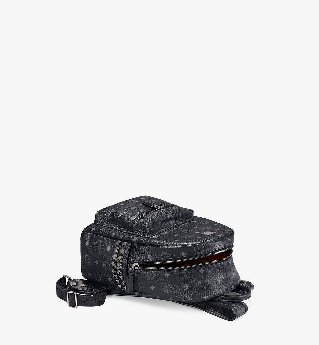 MCM Stark Side Studs Backpack in Visetos Black MMK6SVE37BK001 Alternate View 2