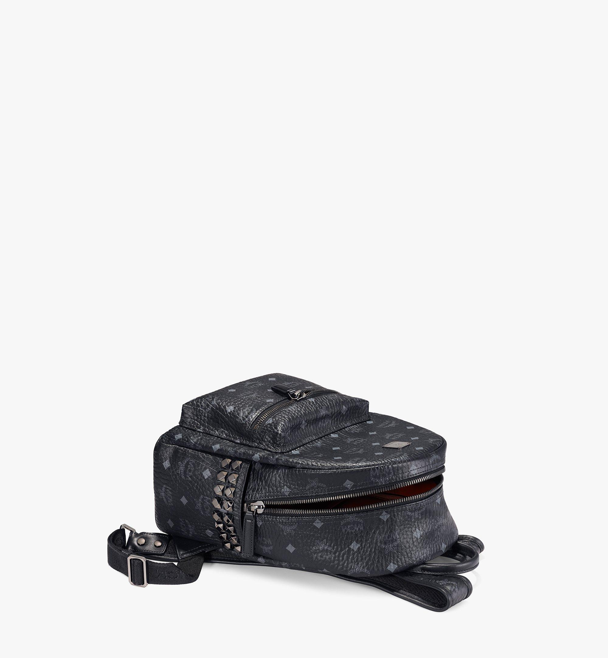 MCM Stark Side Studs Backpack in Visetos Black MMK6SVE37BK001 Alternate View 3