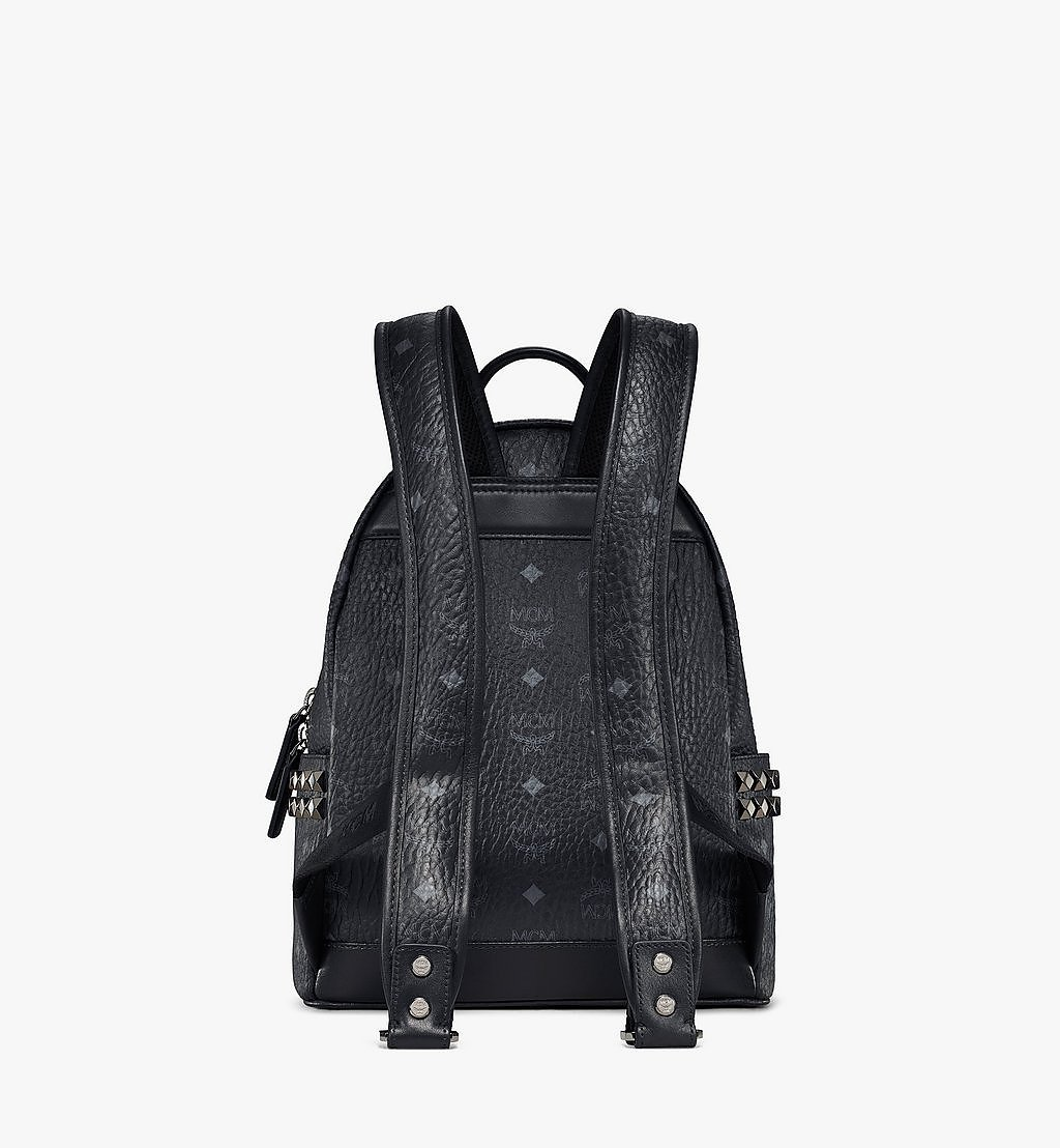 MCM Stark Side Studs Backpack in Visetos Black MMK6SVE37BK001 Alternate View 3