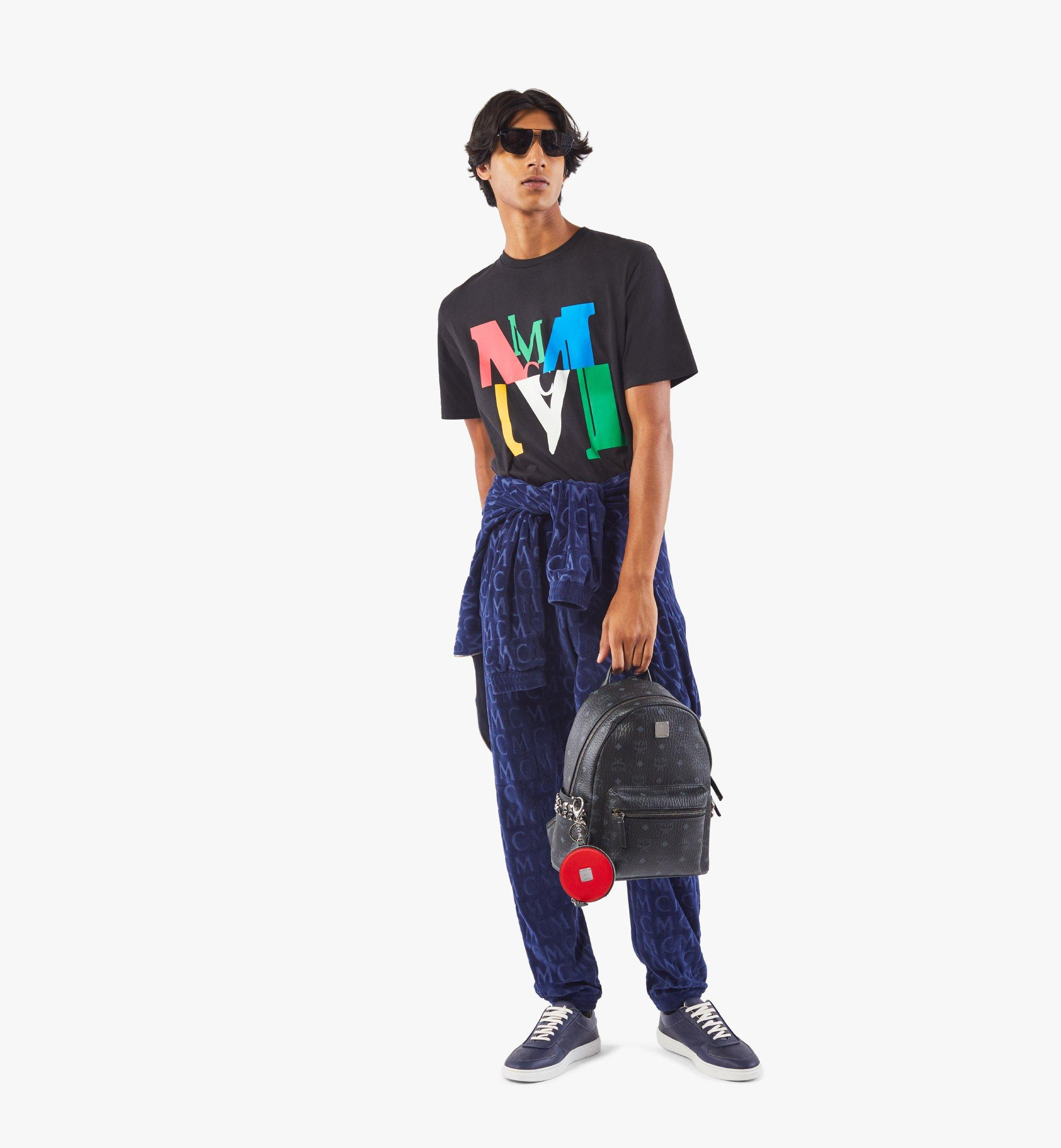 MCM Stark Side Studs Backpack in Visetos Black MMK6SVE37BK001 Alternate View 4