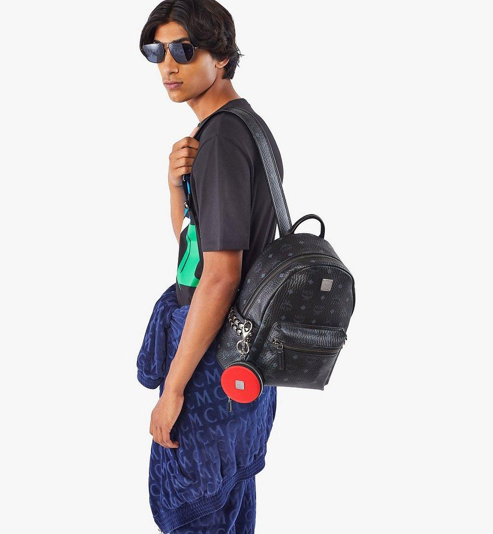 MCM Stark Side Studs Backpack in Visetos Black MMK6SVE37BK001 Alternate View 2