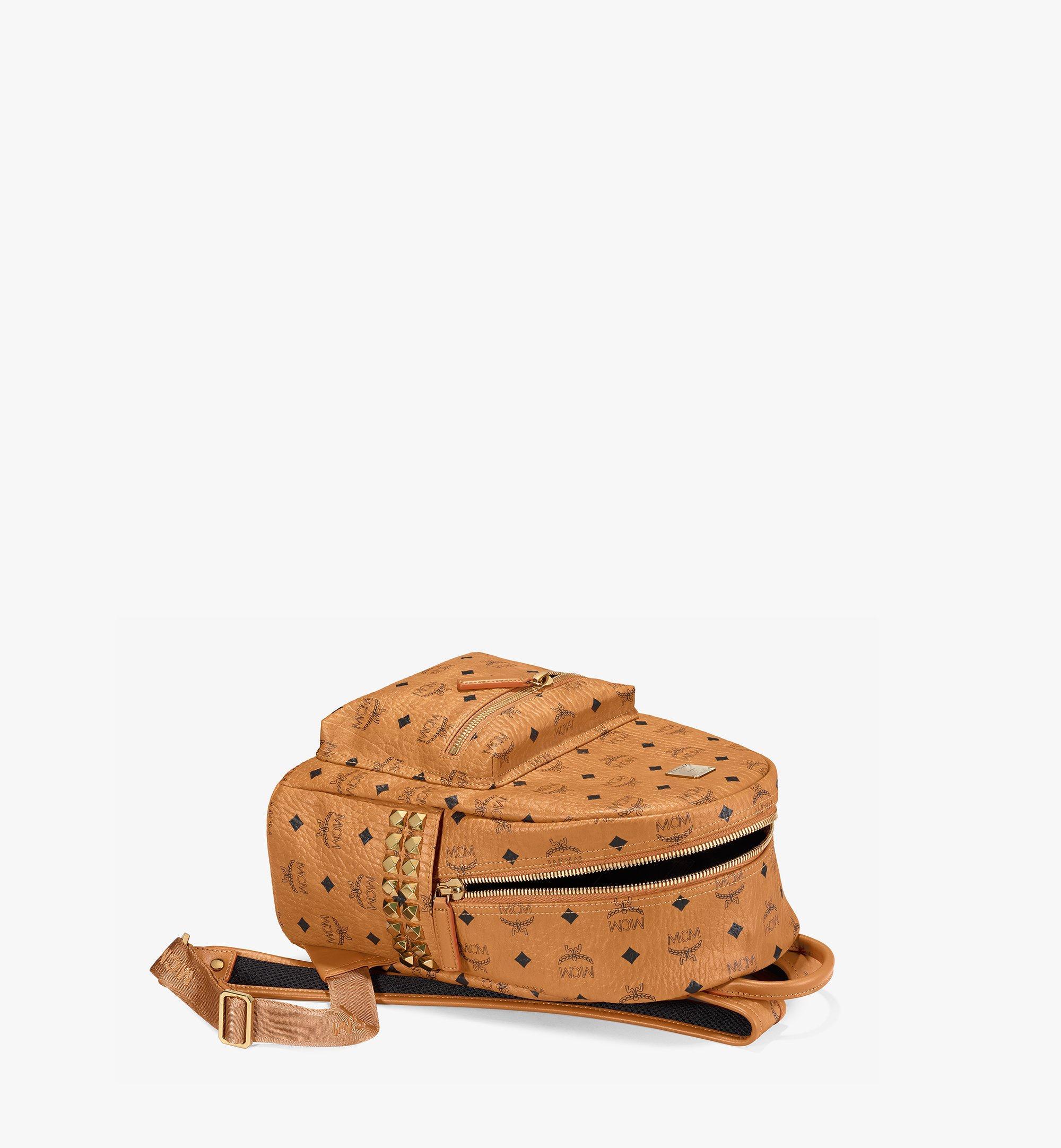 MCM Stark Side Studs Backpack in Visetos Cognac MMK6SVE37CO001 Alternate View 3