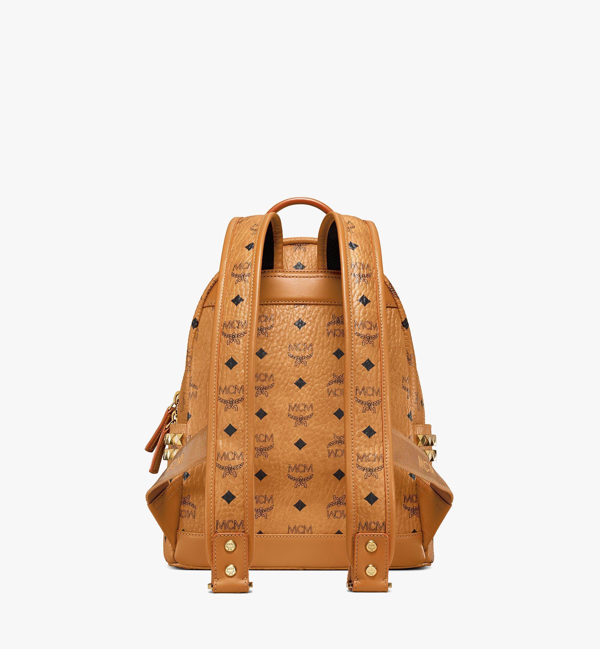 MCM Stark Side Studs Backpack in Visetos Cognac MMK6SVE37CO001 Alternate View 4