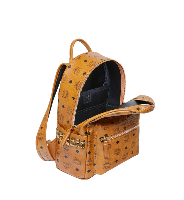 MCM Stark Side Studs Backpack in Visetos Cognac MMK6SVE37CO001 Alternate View 5