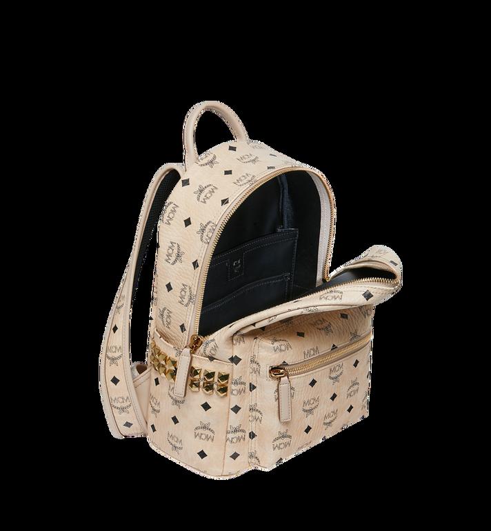 MCM Stark Side Studs Backpack in Visetos Beige MMK6SVE37IG001 Alternate View 5