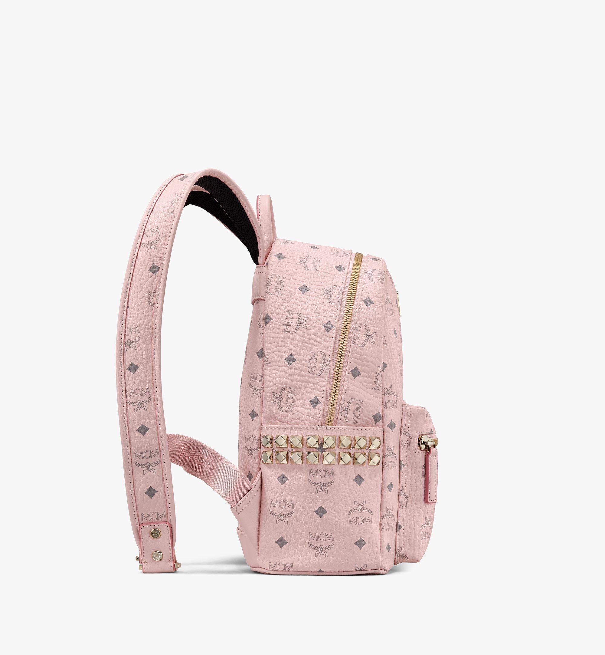 MCM Stark Side Studs Backpack in Visetos Pink MMK6SVE37QH001 Alternate View 1
