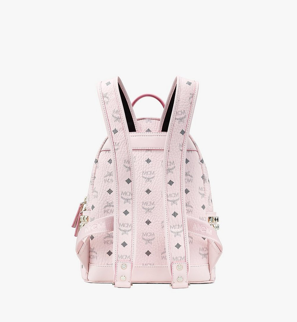 MCM Stark Side Studs Backpack in Visetos Pink MMK6SVE37QH001 Alternate View 2