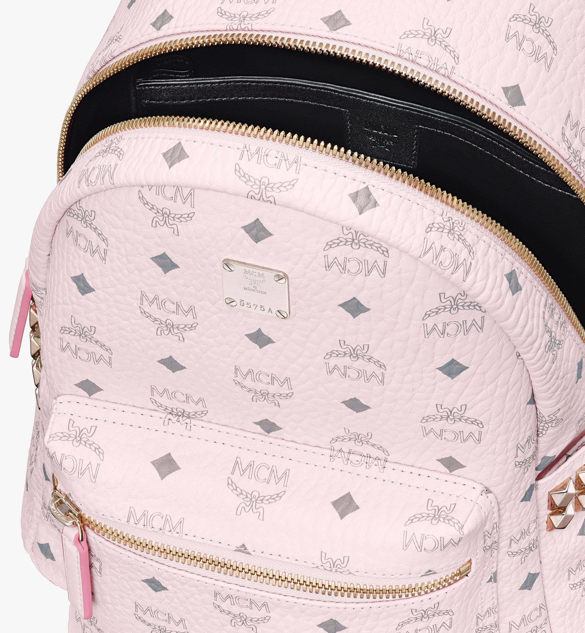 MCM Stark Side Studs Backpack in Visetos Pink MMK6SVE37QH001 Alternate View 4