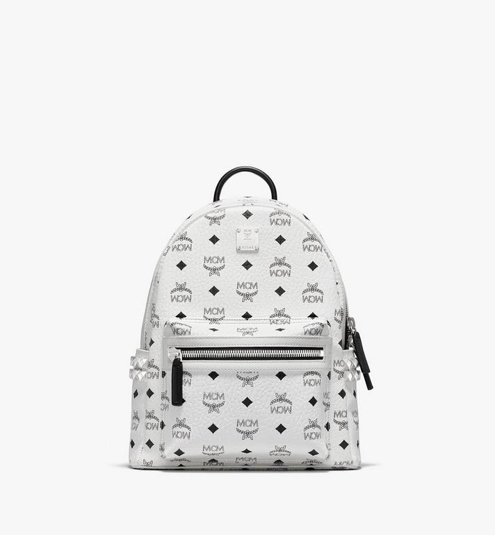 MCM Stark Side Studs Backpack in Visetos MMK6SVE37WT001 AlternateView