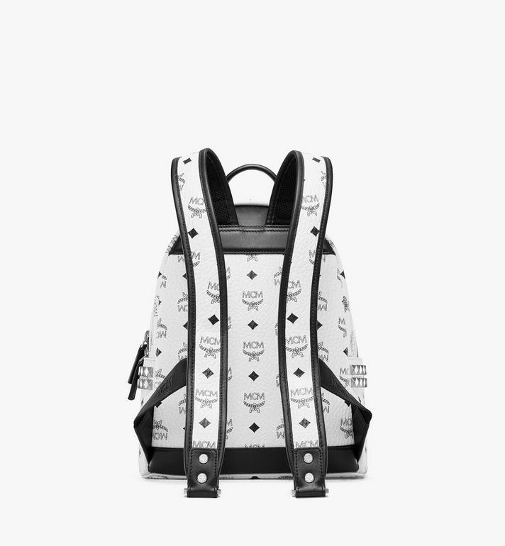 MCM Stark Side Studs Backpack in Visetos White MMK6SVE37WT001 Alternate View 4