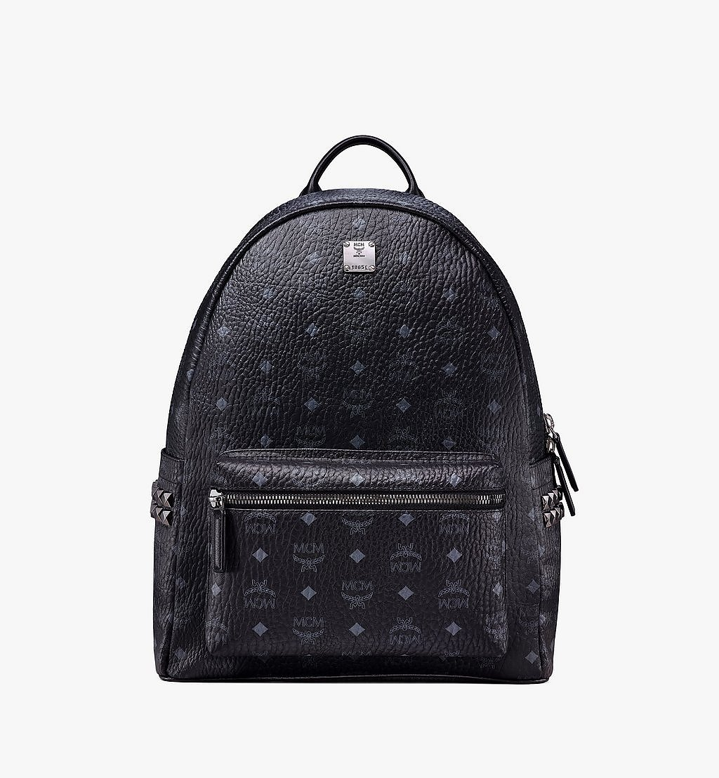 MCM Stark Side Studs Backpack in Visetos Black MMK6SVE38BK001 Alternate View 1