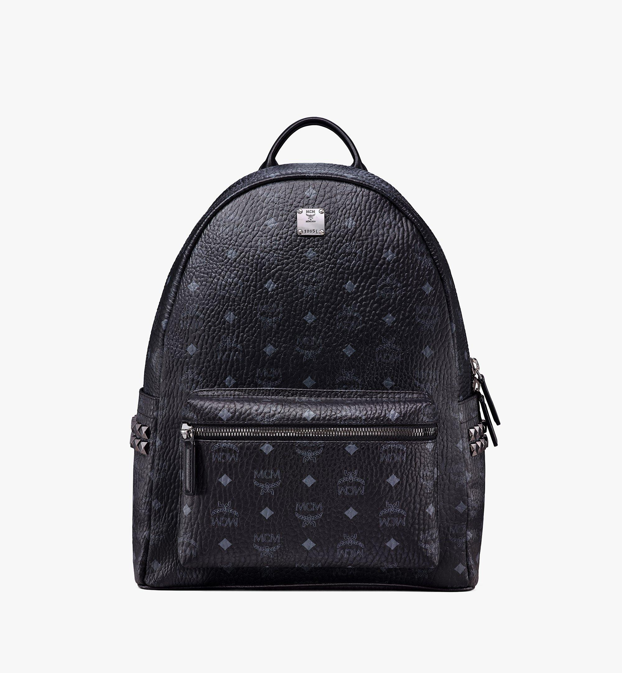 MCM Stark Side Studs Backpack in Visetos Black MMK6SVE38BK001 Alternate View 1