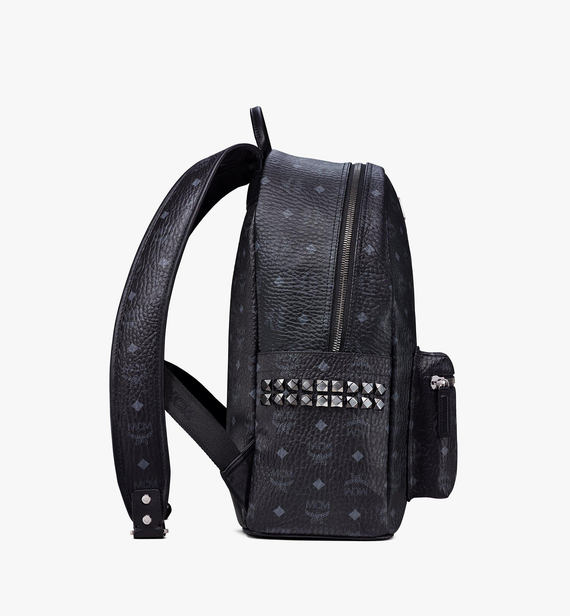 40 cm 16 in Stark Side Studs Backpack in Visetos Black