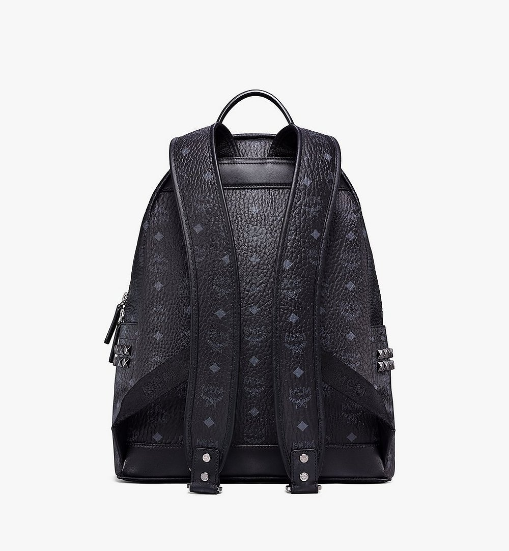 MCM Stark Side Studs Backpack in Visetos Black MMK6SVE38BK001 Alternate View 3