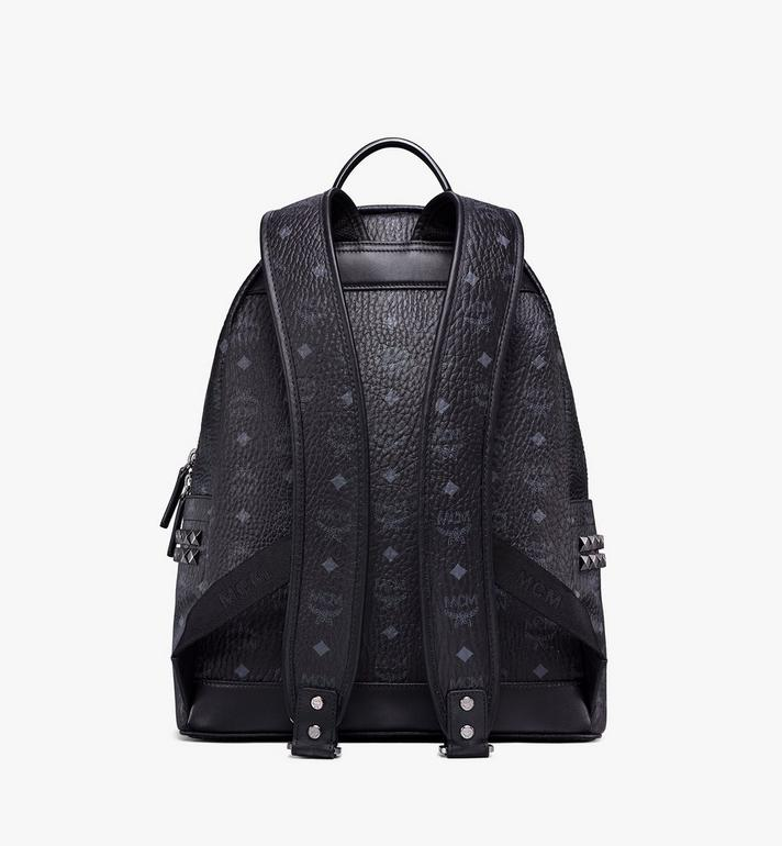 MCM Stark Side Studs Backpack in Visetos MMK6SVE38BK001 AlternateView4