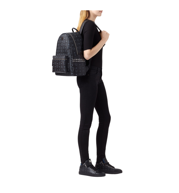 MCM Stark Side Studs Backpack in Visetos Black MMK6SVE38BK001 Alternate View 6