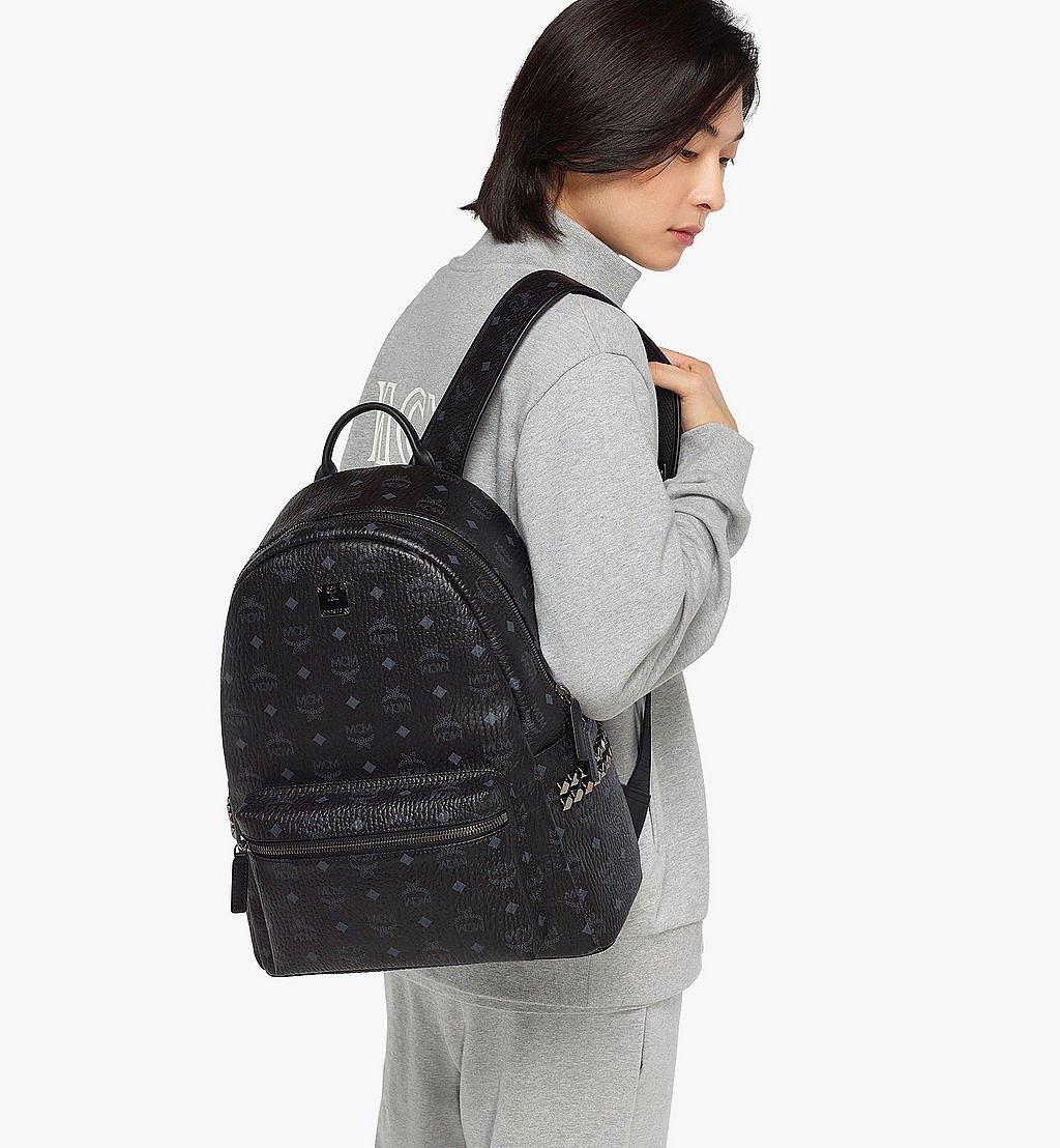 MCM Stark Side Studs Backpack in Visetos Black MMK6SVE38BK001 Alternate View 4