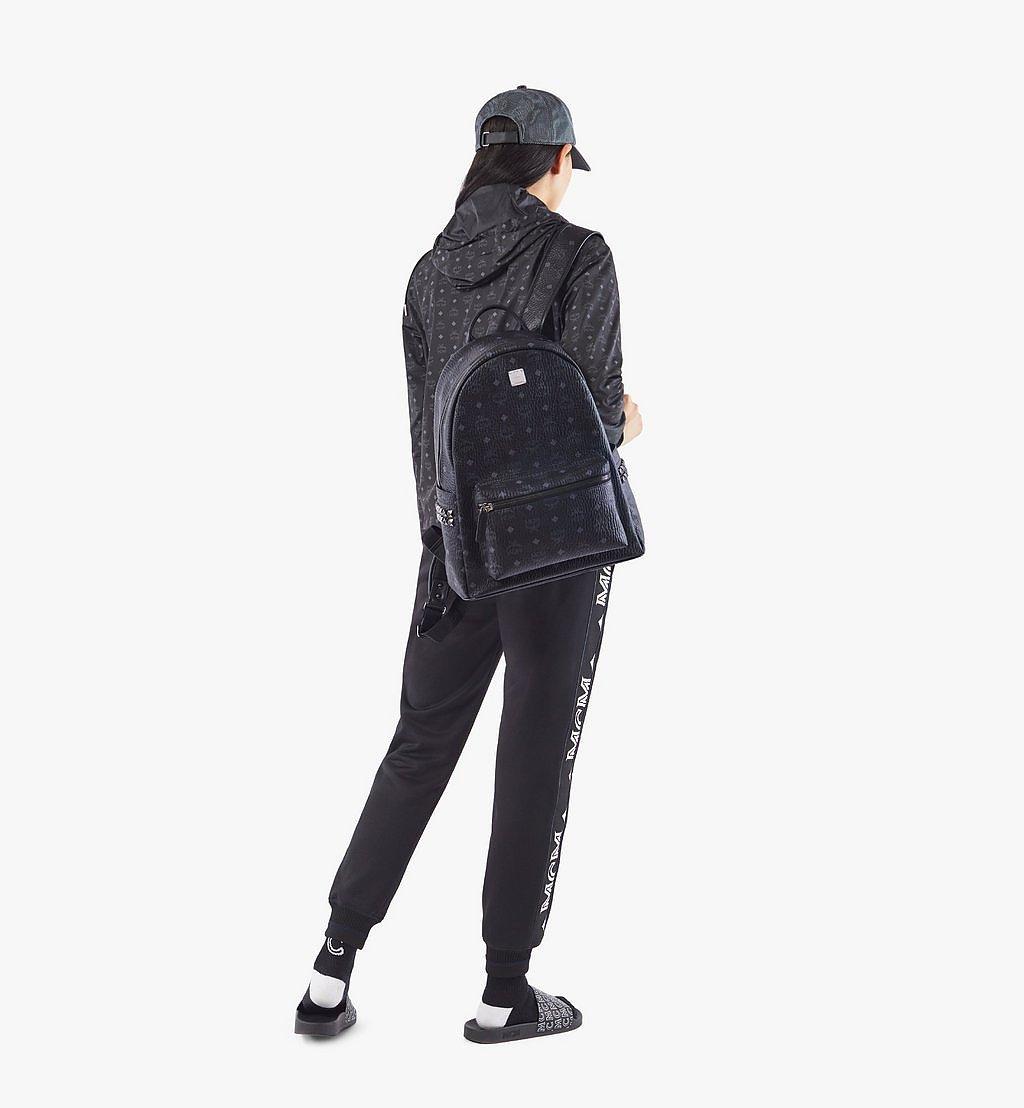 MCM Stark Side Studs Backpack in Visetos Black MMK6SVE38BK001 Alternate View 5