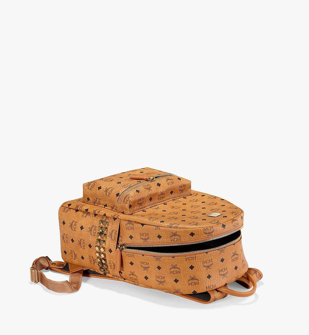 MCM Stark Side Studs Backpack in Visetos Cognac MMK6SVE38CO001 Alternate View 2